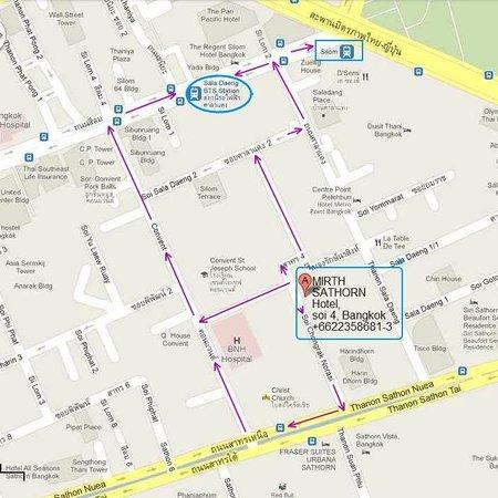 Mirth Sathorn Hotel: Map to reach hotel