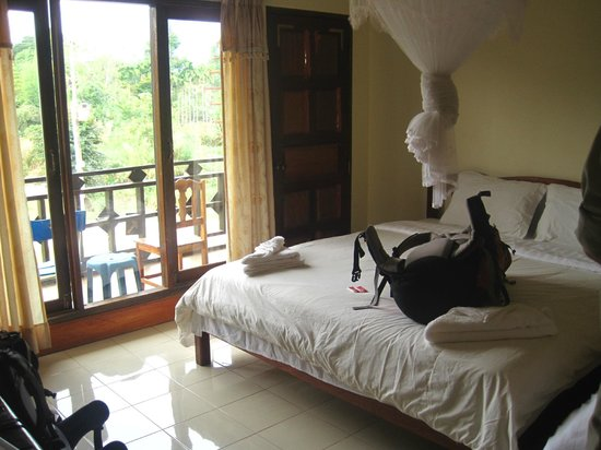 Jammee Guest House: Our upper family room with balcony for just the 2 of us...""