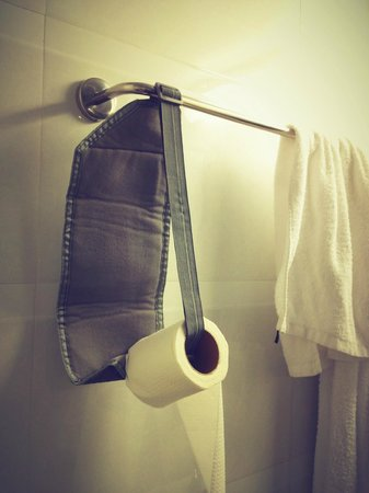 Clover City Center: made our own toilet-roll holder