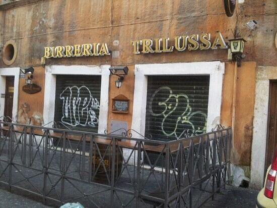 Birreria Trilussa: an early March morning...