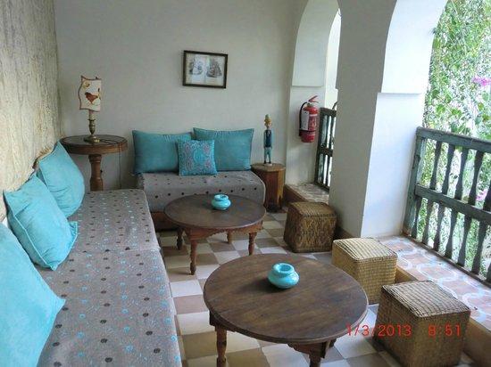 Riad Le Coq Fou: eine gemütliche Sitzecke