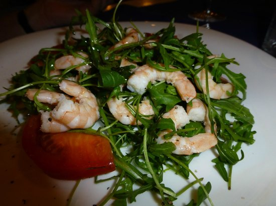 Trattoria Andri: prawns on rocket