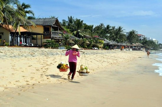 Blue Waves (Tien Dat) Resort: At the beach you can buy some fresh fruit