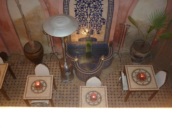 Riad Jonan: View of dining area from Meknes
