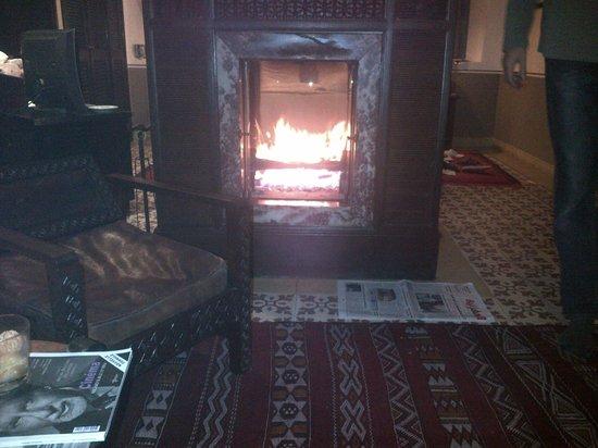 L'Heure Bleue Palais : Fire in the suite