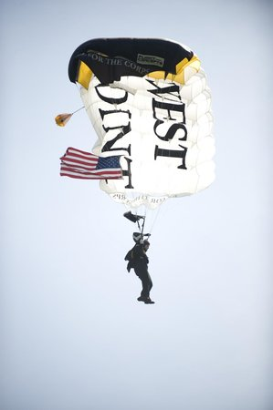 United States Military Academy: Sky Divers into the Stadium