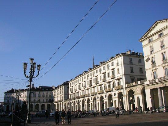 arcaded piazza Vittorio Veneto