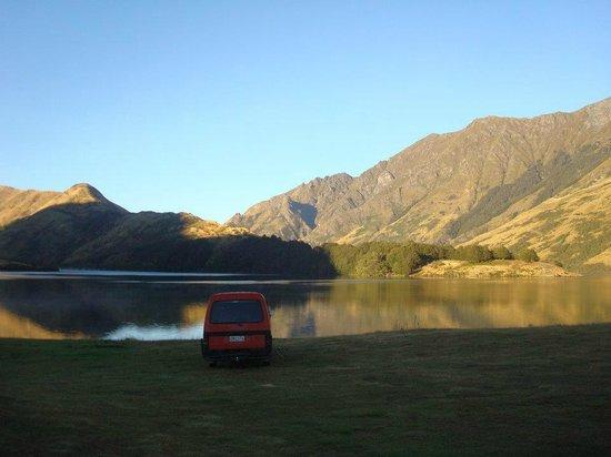 Moke Lake in the morning