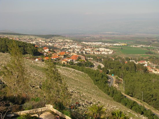 Hotel Mitzpe Hayamim: A view from the hotel to Rosh Pina