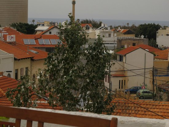 Villa Vilina Oasis in Neve Tzedek: View of Mediterranean Sea from rooftop terrace (not from room)