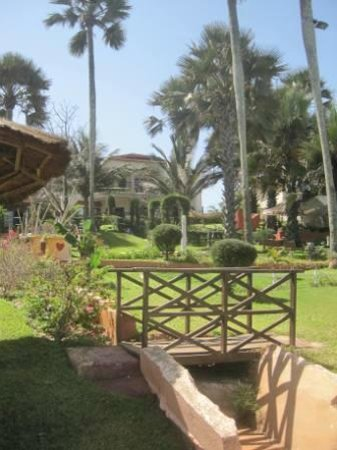 Ngala Lodge: Looking up towards the hotel from the gardens