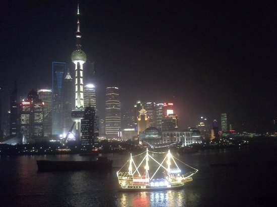 view from Hyatt on the Bund room
