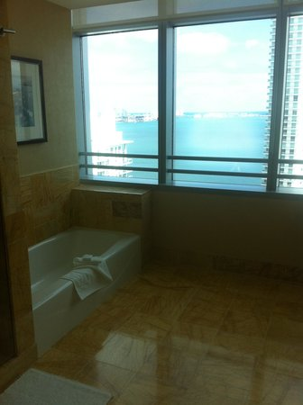 Conrad Miami: view from bathroom