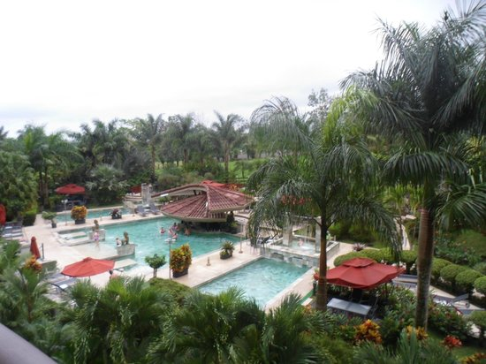 The Royal Corin Thermal Water Spa & Resort: View to pool area.