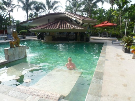 The Royal Corin Thermal Water Spa & Resort: Hot pool with bar of course...and Carol