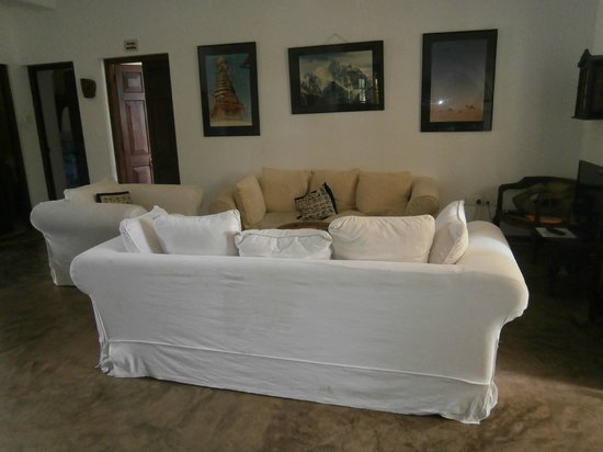 The Spice House, Mirissa: The lounge / reception room