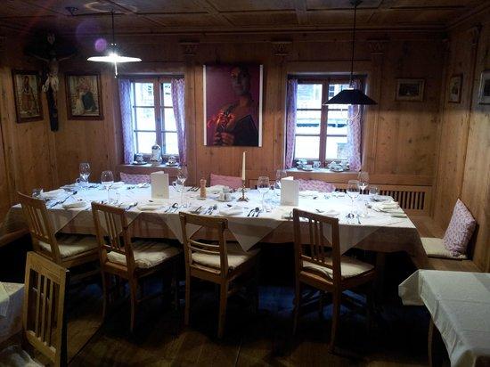Gannerhof: gedeckter Tisch für das Abendessen
