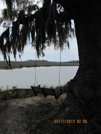 The Lodge on Little St. Simons Island: Overlooking the river
