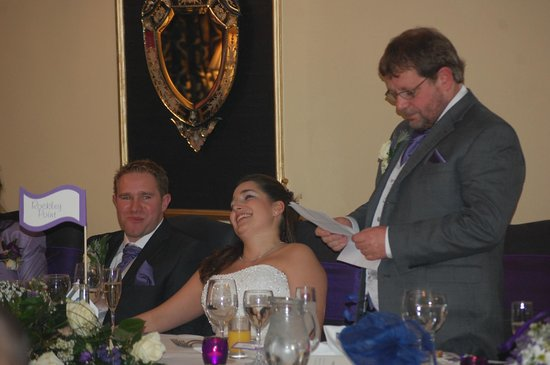 Lord Bute Hotel: Top table along the back wall