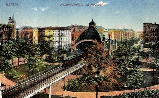 vintage berlin guide tours old postcard from nollendorfplatz tourism poster