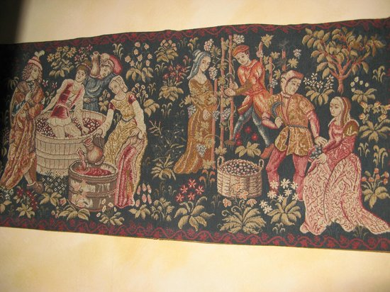 La Lanterne: One of the tapestries in our bedroom