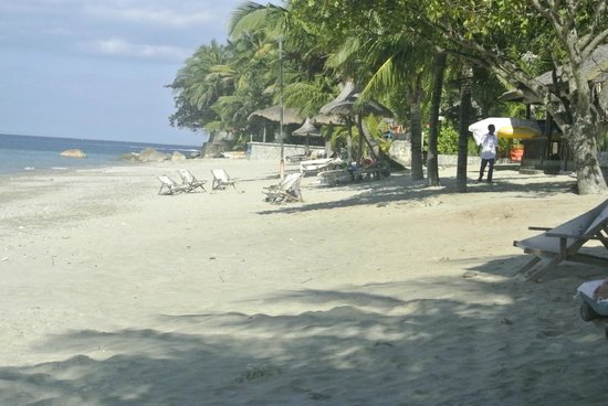 Tamaraw Beach Resort: Plage devant hotel
