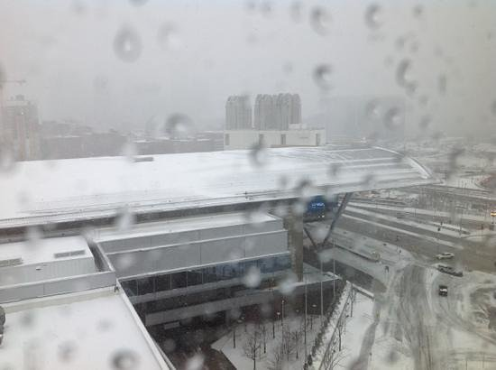 The Westin Boston Waterfront: view from room on nasty snowy day
