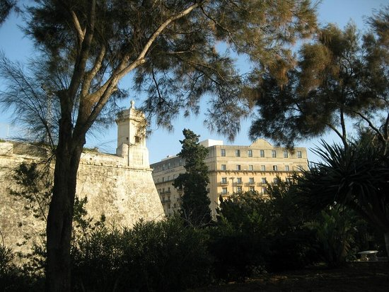 The Phoenicia Malta: The Phoenicia Hotel and Bastions seen from the hotel gardens