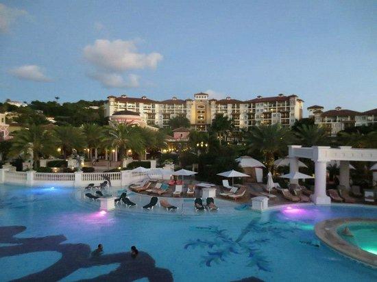 Sandals Grande Antigua Resort & Spa: View of pool and Mediteranean Village