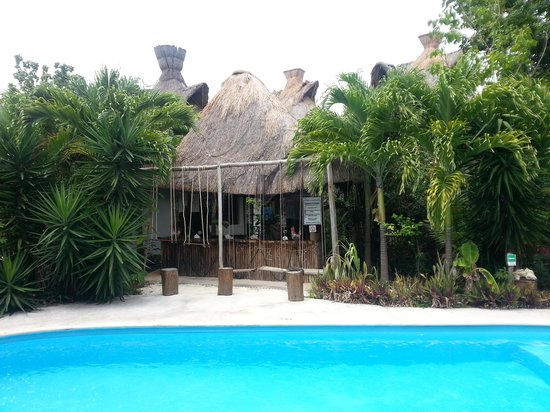Green Tulum Cabanas & Gardens : fin hage og pool.