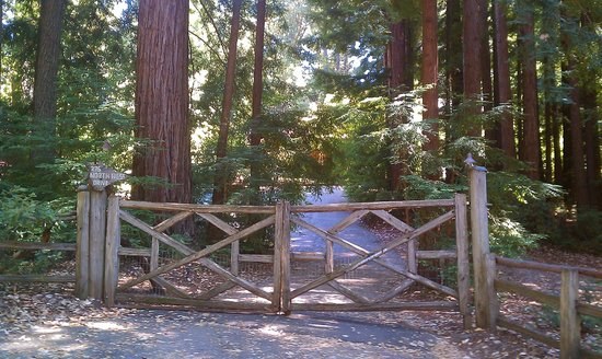 Redwood Croft: hard to find front gate