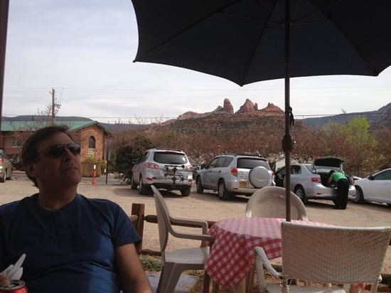 view from the patio at Sedona Memories