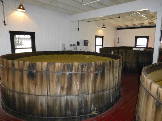 Kentucky: Fermentation vats at Maker's Mark