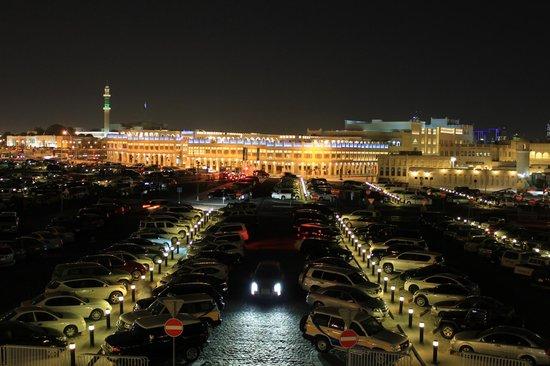 Al Bandar Fish Market: view of backside from terrace