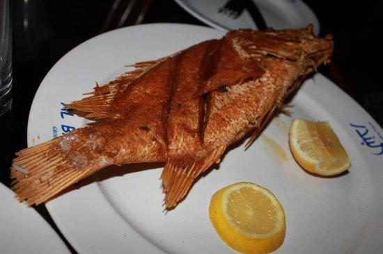 Al Bandar Fish Market: whole fish, fried!