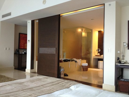 Grand Velas Riviera Maya: Very Contemporary, Heavy Sliding Doors