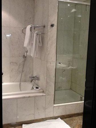 Hotel Palace Berlin: Angenehme Dusche und extrem sauberes Bad