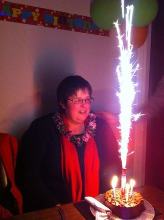 Gurkha Restaurant: birthday cake with sparkler!!!