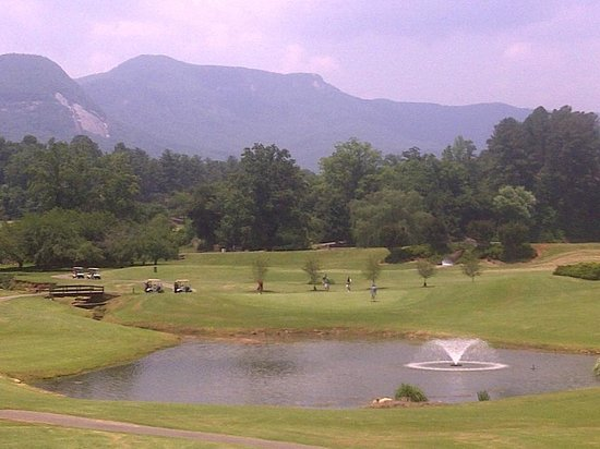 Rumbling Bald Resort on Lake Lure: Mountain backdrop