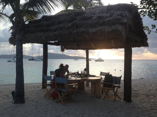 Petit St. Vincent Resort: watching the sunset