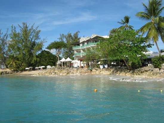 Mango Bay All Inclusive: Hotel & Beach from the sea