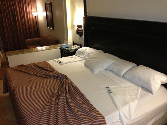 "Hotel Riu Palace Aruba: ""King"" bed - really two oversized single beds pushed together"