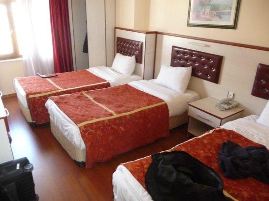 Tayhan Hotel: Værelse ud mod vejen