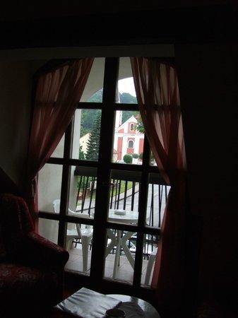 Zamecky penzion Kopecek : View from our room