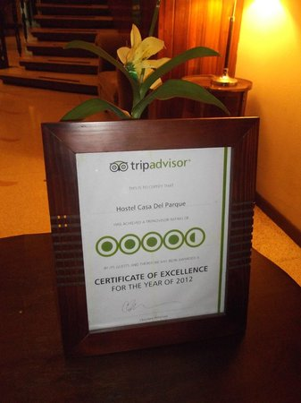 Hostel Casa Del Parque: Number 1 tripadvisor Hostel in Costa Rica for 2013