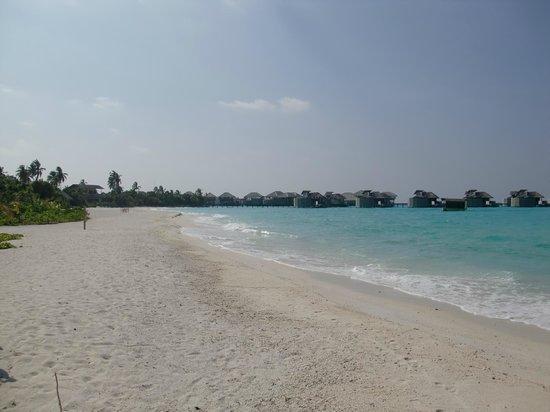 Six Senses Laamu: Deserted beach in front of Spa