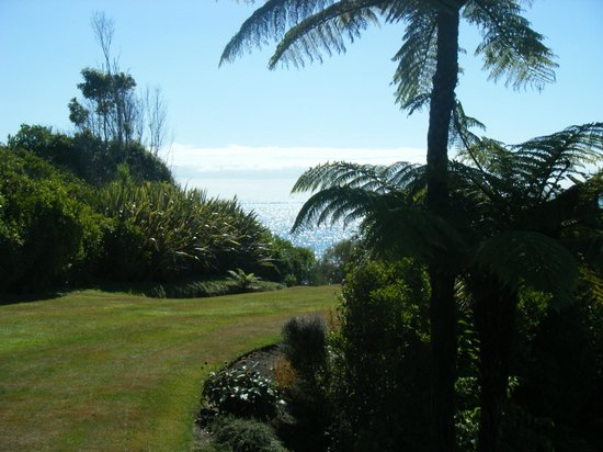 Adrift in Golden Bay: View from Honeymoon cottage garden