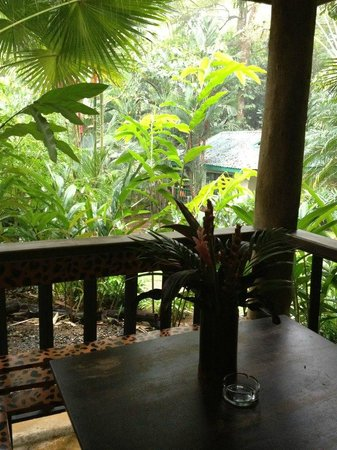 Hotel Villas Gaia: Rainstorm from the door of our Casita