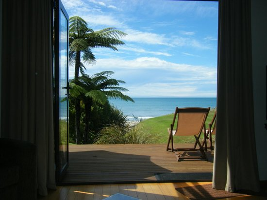 Adrift in Golden Bay: View from settee in Honeymoon Cottage