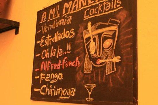 A Mi Manera : drinks at the wall
